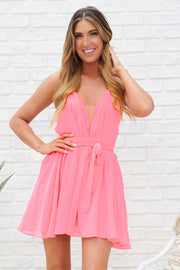 A Hot Minute Dress (Neon Pink)