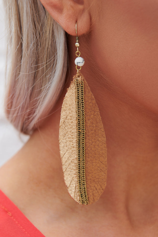 Beautiful View Drop Earrings (Brown) - NanaMacs
