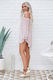 All Yours Off The Shoulder Tunic Top (Medium Pink)