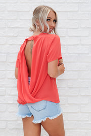 Bring Me Back Twist Top (Poppy Red)