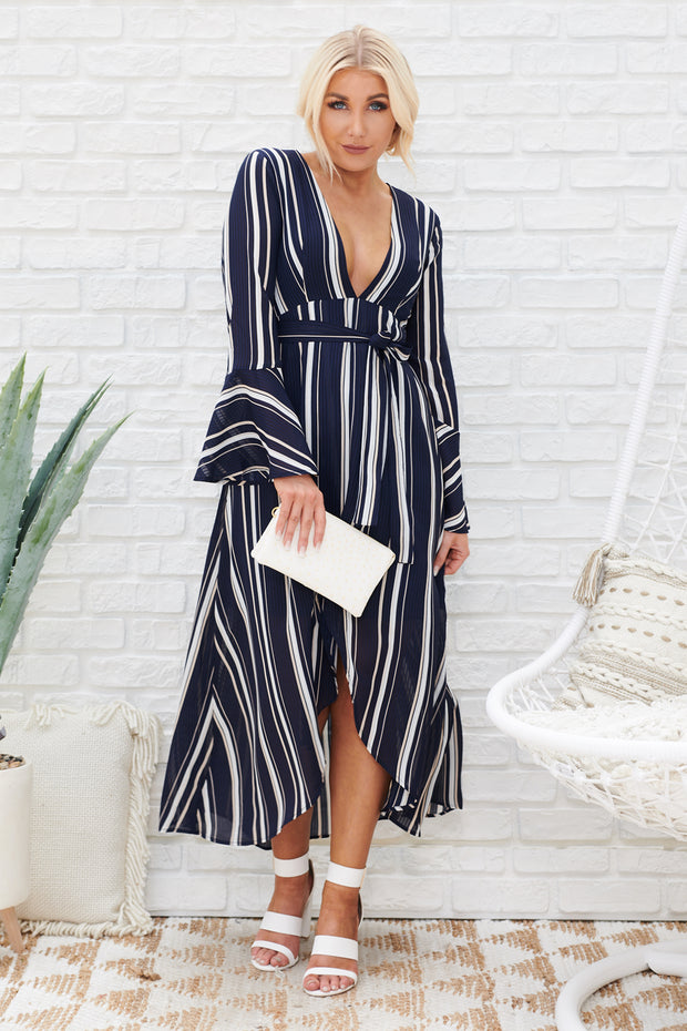 Manhattan Moment High-Low Dress (Navy)