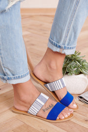Bright Choice Slip On Sandals (Cobalt Blue) - NanaMacs