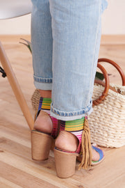 Seeing Rainbows Textile Heels (Serape)