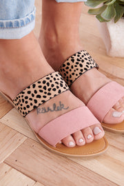 Bright Choice Slip On Sandals (Ash Rose)