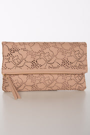 Dream Big Laser Cut Fold Over Clutch (Natural) - NanaMacs