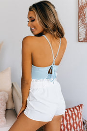 Stopping By Tie Back Bodysuit (Blue Dream) - NanaMacs