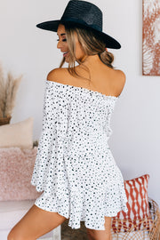 Joyful Living Off The Shoulder Romper (Off White) - NanaMacs