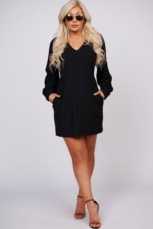 Good Intentions Ribbed Knit Dress (Black)