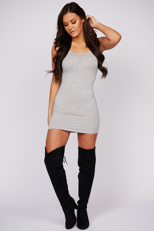 Not A Care In The World Cami Dress (Heather Grey)