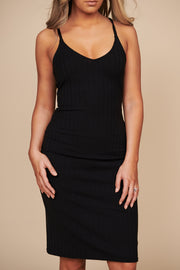 Follow My Heart Midi Dress (Black)