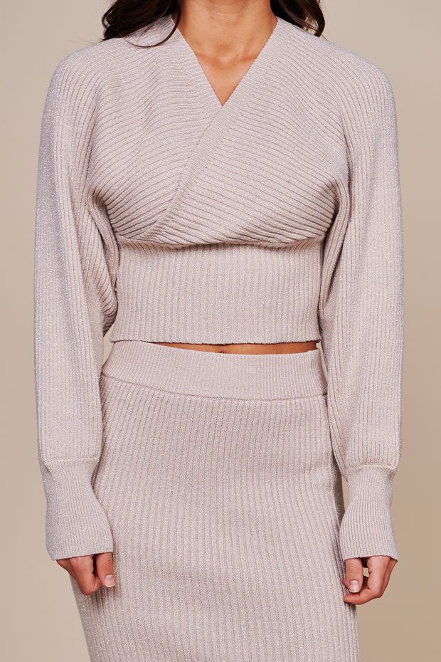 Downtown Date Sweater Knit Two Piece Set (Tan) - NanaMacs