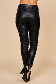 Electric Faux Leather Pants (Black) - NanaMacs
