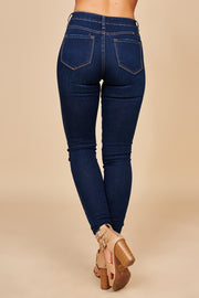 Give It Everything High Waisted Skinny KanCan Jeans (Dark Wash)