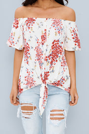 Garden Of Romance Floral Top (Ivory) - NanaMacs