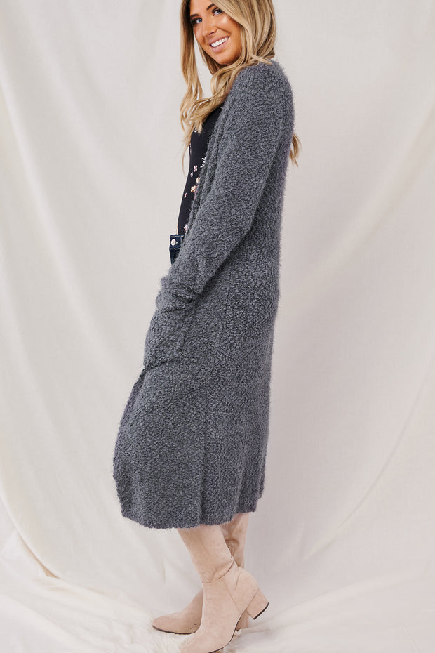 Cozy Time Cardigan (Charcoal)