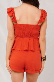 Summer Jam Two Piece Set (Tangerine Tango)