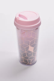 Winter Vibes Travel Mug And Earmuff Set (Rose)