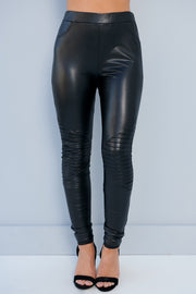 Perfect As Can Be Faux Leather Pants (Black) - NanaMacs