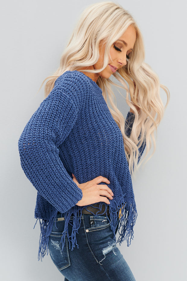 True Meaning Sweater (Denim Blue)