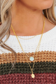 More To Give Layered Necklace (Gold) - NanaMacs