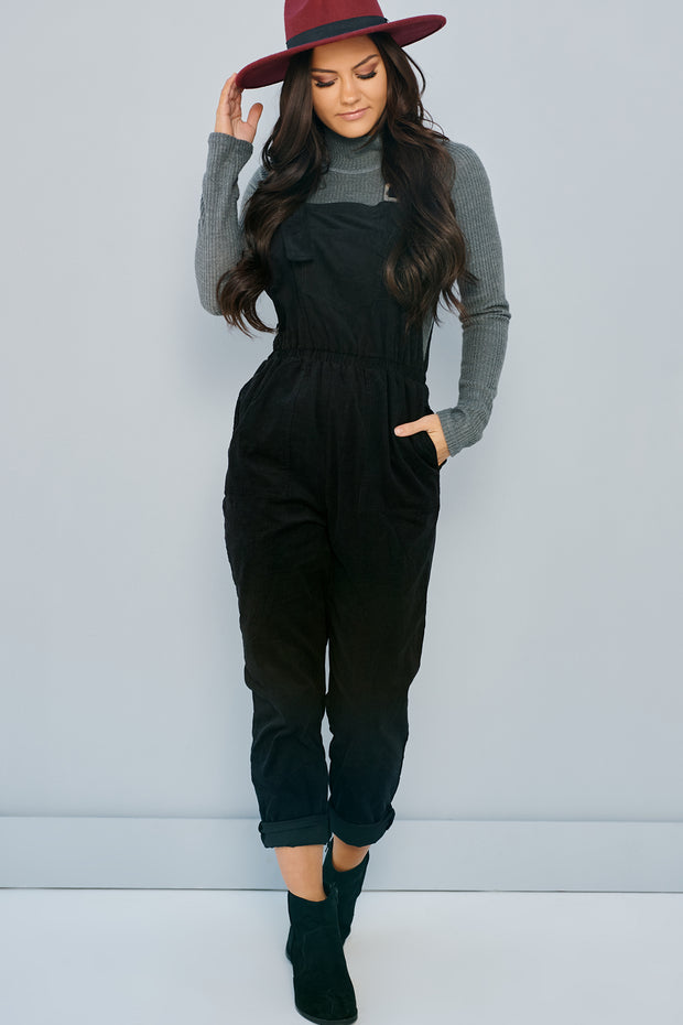 Just For Tonight Turtle Neck Bodysuit (Charcoal) - NanaMacs