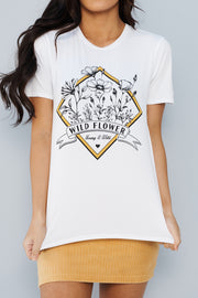"""Wild Flower"" Graphic Tee (Ivory)"