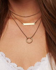 Carefree Tiered Necklace (Gold) - NanaMacs