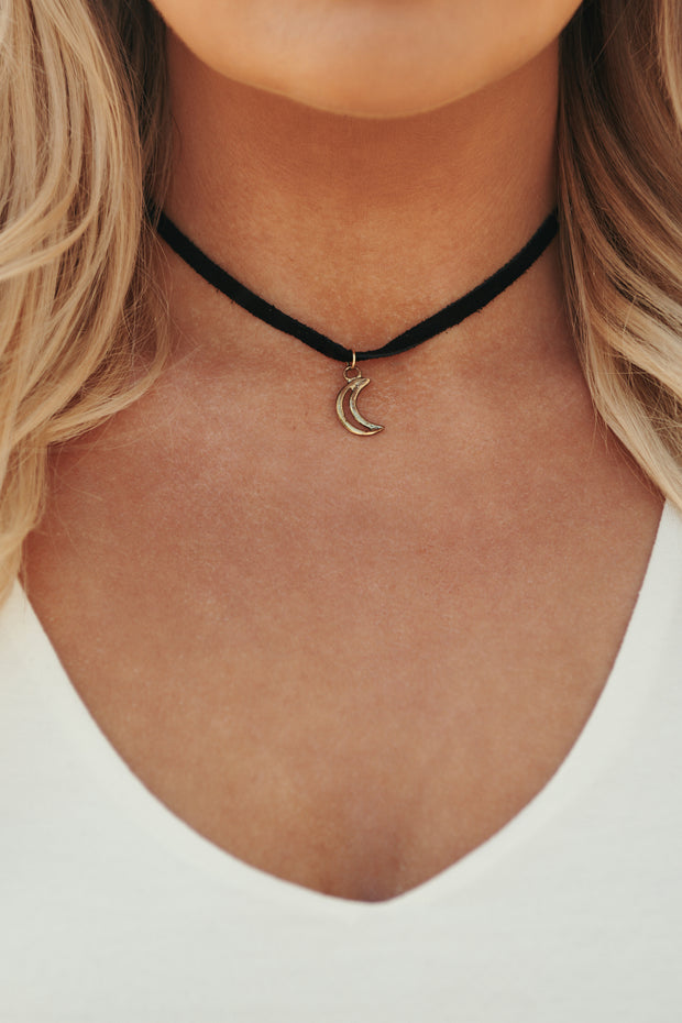 Moon Child Choker Necklace (Gold)