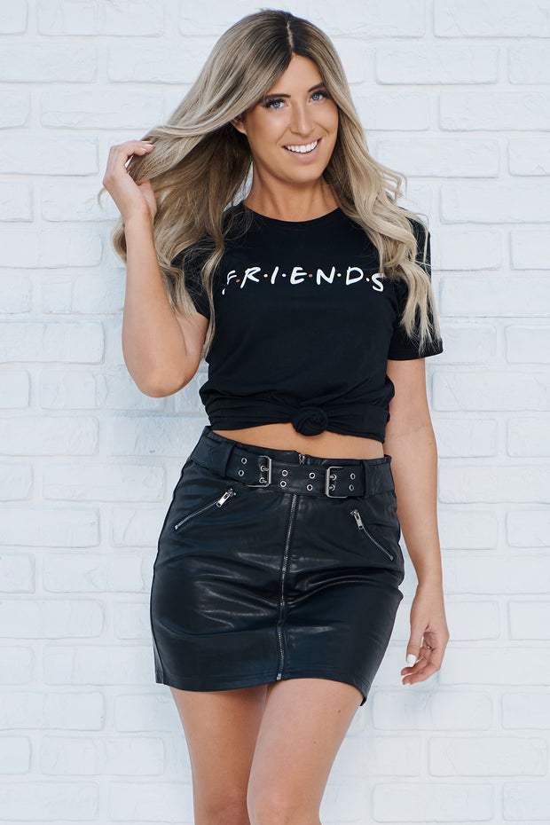 """Friends"" Graphic T-Shirt (Black)"