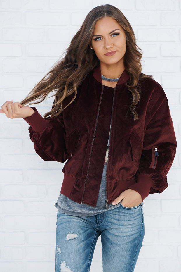 Invest In You Jacket (Wine) - NanaMacs