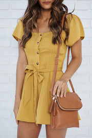 Love From Above Romper (Mustard)