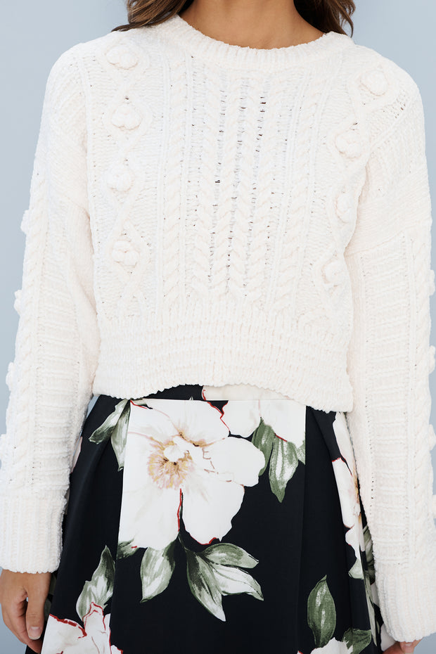 Holland Cropped Sweater (Ivory)