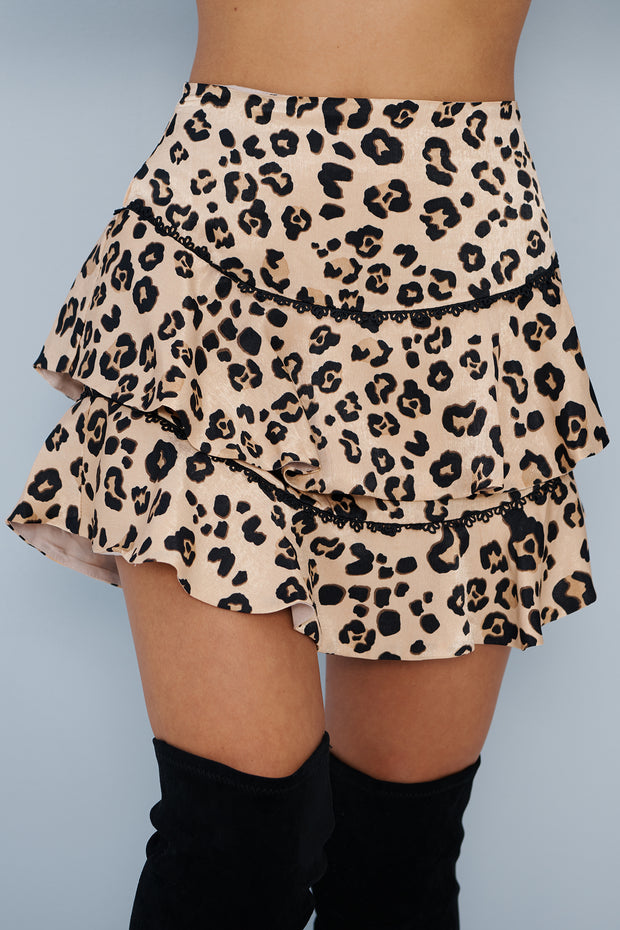 Got Em In An Up-Roar Skirt (Blush Leopard)