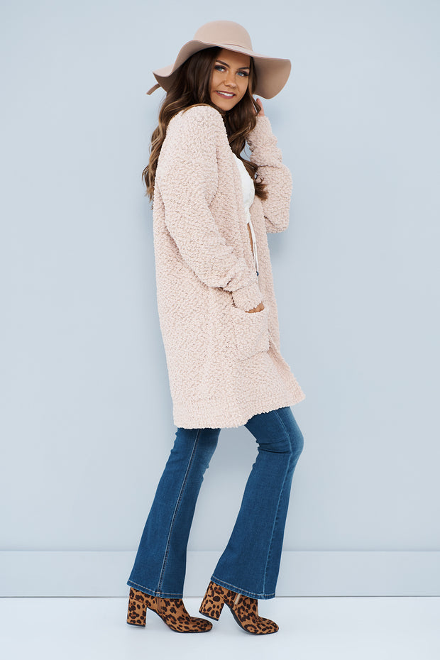Wrapped In Clouds Cardigan (Taupe) - NanaMacs