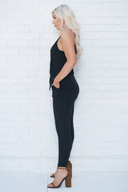 Now You Know Jumpsuit (Black)