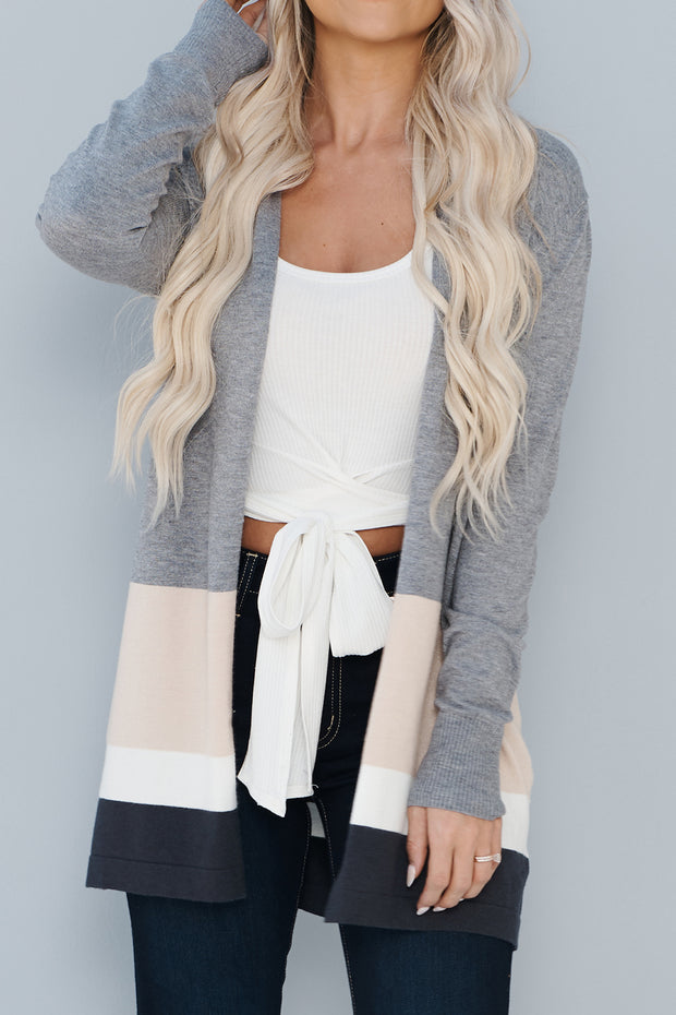 Block Party Cardigan (Charcoal)