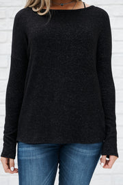 Twisted Feelings Sweater (Black) - NanaMacs