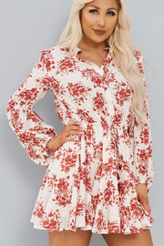 If Only You Knew Dress (Cream/Red) - NanaMacs