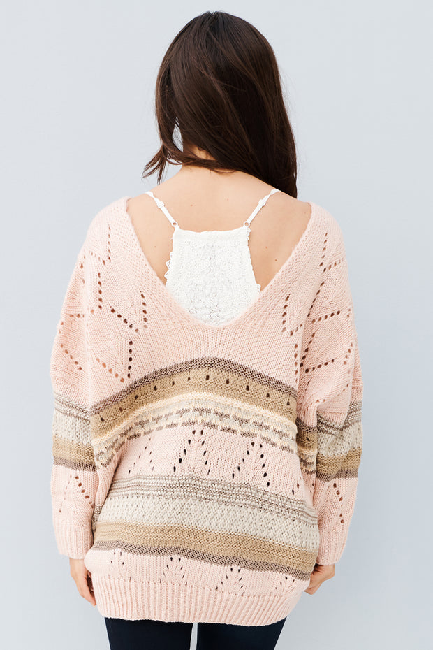 Late Nights Sweater (Rose Quartz) - NanaMacs