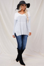 Fall To Pieces Sweater (Ivory/Heather Grey) - NanaMacs