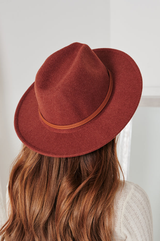 Down The Lane Wool Hat (Wine) - NanaMacs