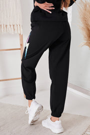 Shock To The Heart French Terry Joggers (Black) - NanaMacs