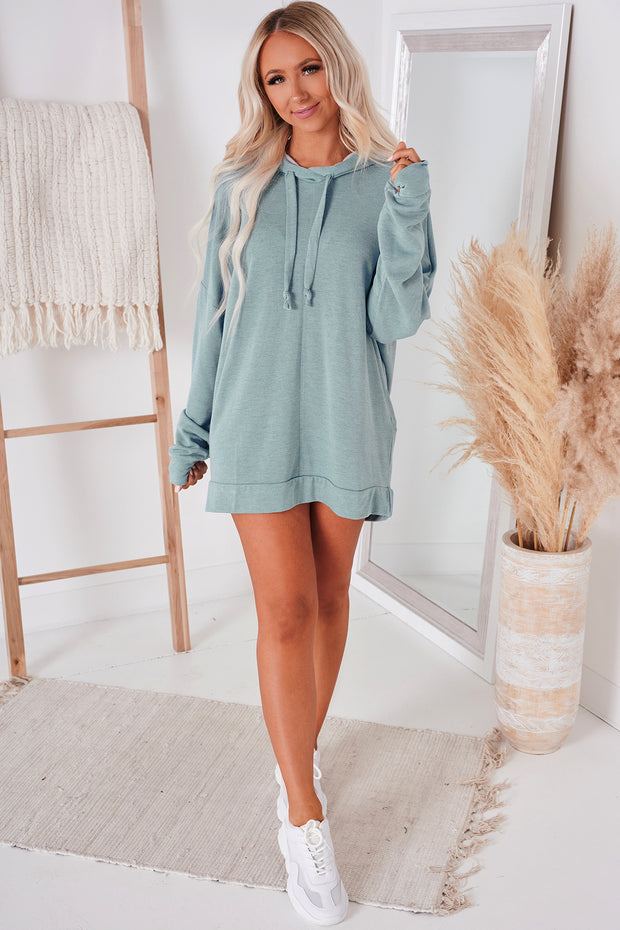 Feeling Carefree Oversized Hoodie (Denim Blue) - NanaMacs