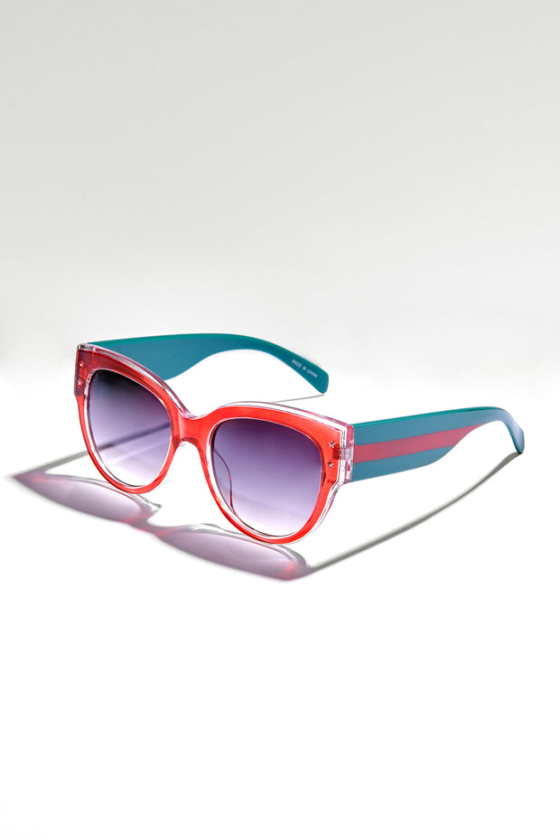 Check You Out Oversized Sunglasses (Red) - NanaMacs