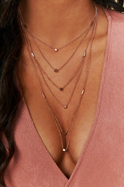Rose To The Occasion Layered Necklace (Rose Gold)