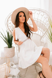 Like An Angel Lace Detail Dress (Off White) - NanaMacs