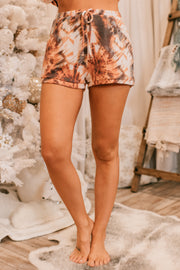 Hearts Run Wild Tie Dye Two Piece Set (Rust) - NanaMacs