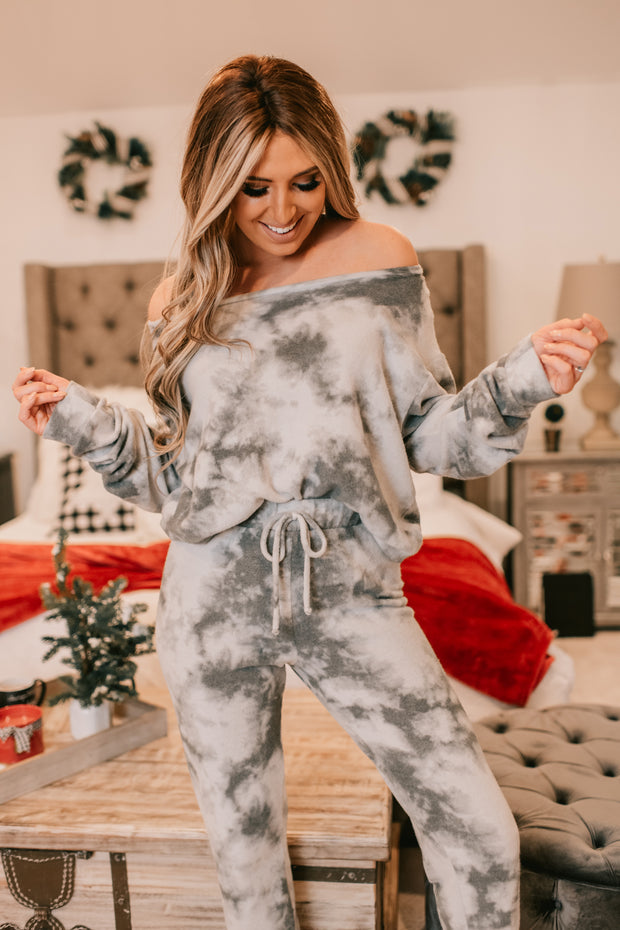 Change Your Thoughts Tie Dye Sweater (Grey) - NanaMacs