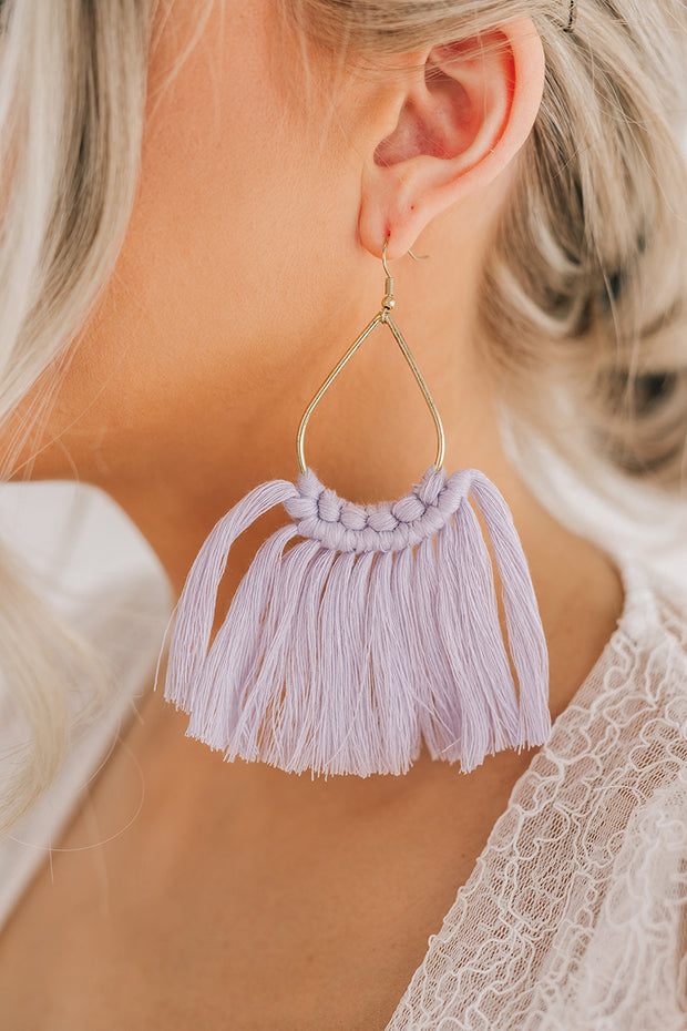 Classic Time Dangle Earrings (Lavender) - NanaMacs