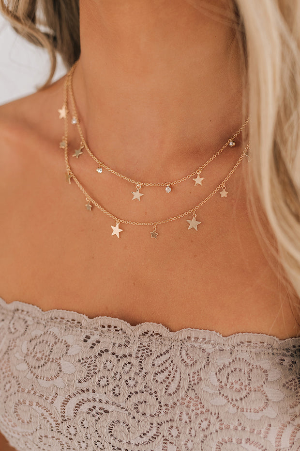 Champagne Fun Layered Necklace (Gold) - NanaMacs